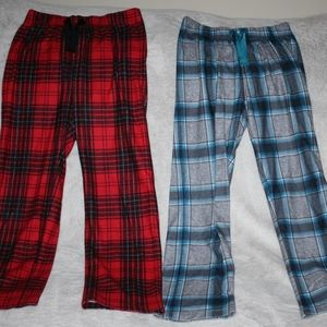 OLD NAVY Lot 2 Boys Pajama Bottoms Large 10-12